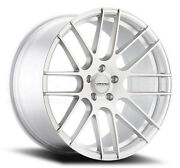 20x8.5 Varro Vd08 5x114.3mm +25 Matte Silver Brushed Face Wheels Set Of 4