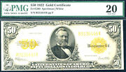1922 50 Fr 1200 Large Size Gold - Pcgs 20- Just 177 In Higher Grade