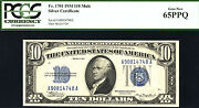 1934 10 Mule Fr 1701 Silver Certificate - Pcgs 65ppq-57 In This Grade