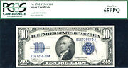 1934a 10 Fr1702 Silver Certificate- Pcgs 65ppq-30 Known In This Grade
