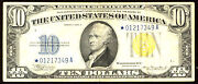 1934 A 10 Fr-2309 Star Small Size Silver Certificate