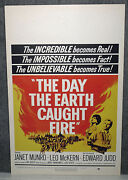 The Day The Earth Caught Fire Original 1962 Rolled Movie Poster Janet Munro