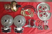 1962 -1967 Chevy Ii Nova Power Front Disc Brake Conversion Drilled Rotors