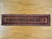 3and0392x13and03910 Antique Farsian Northwest Boteh Design Runner Handmade Rug R26171