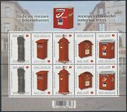 Postboxes 2011 Belgium Stamp Festival-letterboxes-sheetlet Sg4383-7 X2 Mnh