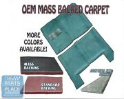 1968-74 Gm X Body Mass Backed Molded Carpet With Sound Deadener Insulation