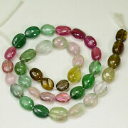 153.85ct Multi Color Tourmaline Smooth Nugget Beads 16 Inch Strand