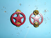 B7416 1980and039s Opfor Opposition Forces Beret Badge Red Star A9b3