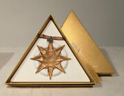 Crystal Snowflake Ornament 2009 Free Shipping Us Ca Large Gold