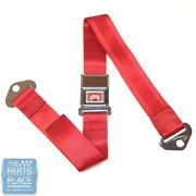 65 Gm A / B And X Body Cars Deluxe Rear Chrome Buckle Red Webbing Seat Belt Each