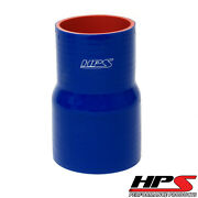 Hps 2-3/8 2.75 Id X 4 Long Reinforced Silicone Reducer Coupler Hose Blue