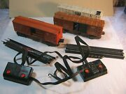 Lionel O Scale Train Automatic Car Lot Milk Car And Cattle Car And Nyc Box Car  T