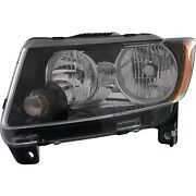 Headlight For 2013-2017 Jeep Compass Left With Bulb And Wiring Harness