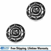 Oem Wheel Hub Center Cap Pair Lh And Rh Front For 94-02 Dodge Ram 3500 16x6 Drw