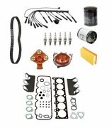 Oem Tune Up Kit Wire Set Plugs Air Oil Fuel Filter Belt Head Gasket For Bmw E30