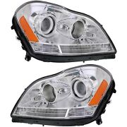 Headlight Set For 2007-2012 Mercedes Benz Gl450 Left And Right Side W/ Bulb