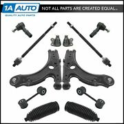 Front Suspension And Steering Kit Set Of 12 Ball Joints Control Arms Tie Rods New
