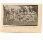 Kentucky Military Institute 1911 Team Picture Baseball Military Park