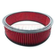 14x4 Round Air Cleaner Washable Filter Element Reusable Chevy Ford Mopar Sbc