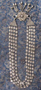 Antique Old Used Nepali Tribal Sterling Silver Necklace Nepal