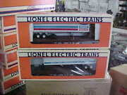 Lionel 17892lcca Flatcars With Armstrong And Ford New Holland Trailers