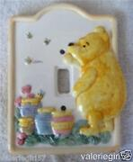 Disney Classic Pooh Honeypots Bees Ceramic Single Light Switch Wall Plate Cover