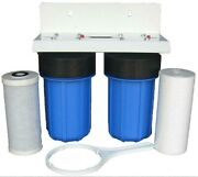 Whole House Restaurant Clean Water Filter System Sediment Carbon Big Blue 10 Bb