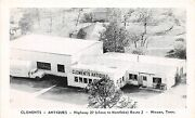 A37/ Hixon Tennessee Tn Postcard C1940s Clements Antiques Store Truck