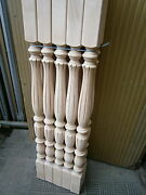 Stair Balusters Elegant Lines Carved Wood Spindles Banisters Staircase Railing