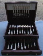 68pc Lg Complete Set For 8 Stieff Sterling Silver Rose Flatware W Serving And Box