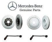 For Mercedes Benz W212 E63 Amg Set Of Front And Rear Disc Brake Rotors And Sensors