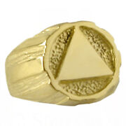 Alcoholics Anonymous, Handsome Lg. Signet Ring, 93 Sizes 10 Or 13, 14k Gold