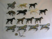 Lot Of 15 Vintage Plastic Toy Misc Horses Cowboy And Knights Holland T
