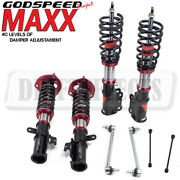 Godspeed Mmx3470 Maxx Damper Coilovers Camber Plate Kit For Toyota Camry 2012-16