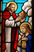 + Beautiful Antique Stained Glass Window The Coronation + Chalice Co.