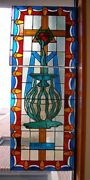 + Antique Church Stained Glass Window + 3 Of 7 + Shipping Available +