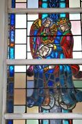 + Nice Figural Stained Glass Window 15and039 Tall X 4and039-6w 11 Of 12 + Chalice Co.
