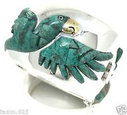 Taxco Mexican 925 Sterling Silver Parrot Bracelet Mexico