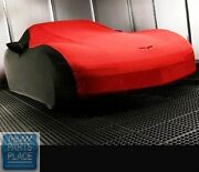 2005-13 Corvette Outdoor Indoor Car Cover Black Red Nos Gm 19158378 Discontinued
