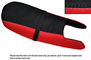 Red And Black Custom Fits Norton Fastback Commando 750 Dual Leather Seat Cover