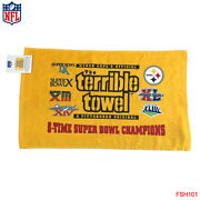 Nwt Original Pittsburgh Steelers 6x Champ Terrible Towel Myron Cope's Official