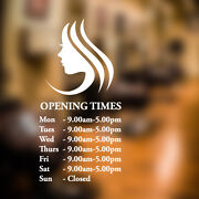 Custom Opening Times Hair And Beauty Salon Wall Sticker Quote Decal Art Ns13