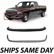 New Front Bumper Cover Valance Combo Kit For 1994-2001 Dodge Ram 1500 2500 3500