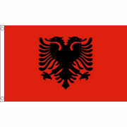 Albania Flags And Bunting - 5x3and039 3x2and039 And Giant 8x5and039 Albanian Table Hand