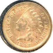 1908-s 1c- Indian Head Penny