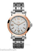 New Gc Guess Collection 2 Two Tone Rose Gold,silver S/s Watch-x61004g1-msr610