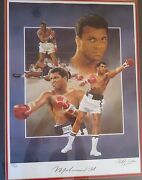 Framed Muhammad Ali Autographed Lithograph Limited Edition Christopher Paluso 2