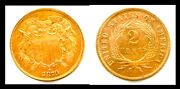1870 2c A Lovely Example-beautiful Color-two Cents