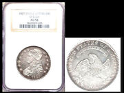 1829 Small Letters 50c Au58 Ngc-o112a-capped Bust Half Dollar