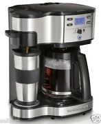 Hamilton Beach The Scoop Two Way Single Serve 12 Cup Coffee Brewer Maker And Mug